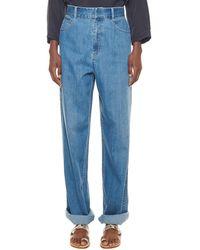 Tibi Vintage Stone Carpenter Pant - Blue