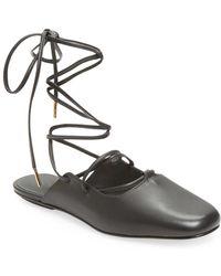 2c645151c7d Lyst - Tibi Flat Loafer Mule in Black