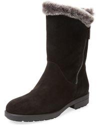 Aquatalia Laverne Suede Winter Boot - Black