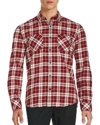 James Campbell - Long Sleeve Plaid Button-down Shirt - Lyst