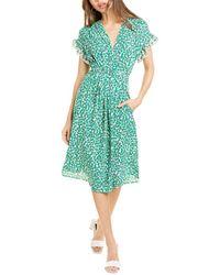 Max Studio Midi Dress - Green
