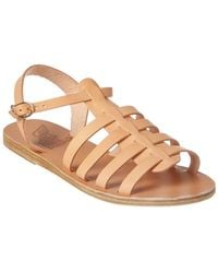 Ancient Greek Sandals Sandals Korinna Leather Sandal - Natural
