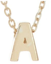 Adornia - 14k Over Silver Initial Necklace - Lyst