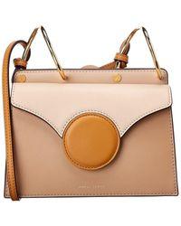 Danse Lente Mini Phoebe Leather Shoulder Bag - Natural