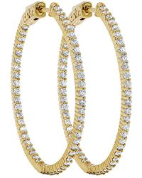 Diana M. Jewels - . Fine Jewelry 14k 1.85 Ct. Tw. Diamond Hoops - Lyst