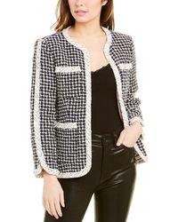 Rebecca Taylor Graphic Tweed Jacket - Black