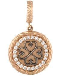Estate Fine Jewelry - Estate 18k Yellow Gold & 0.23 Total Ct. Diamond Heart Pendant Necklace - Lyst