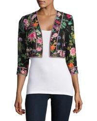 Tadashi Shoji - Floral-print Cropped Jacket - Lyst