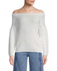 Rebecca Minkoff Off-the-shoulder Wool-blend Jumper - White