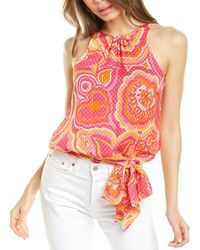 Trina Turk Summerland Silk-blend Top - Pink
