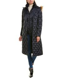 Laundry by Shelli Segal Maxi Puffer Down Coat - Blue
