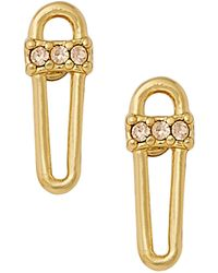 Rebecca Minkoff - Baby Safety Pin Stud Earrings - Lyst