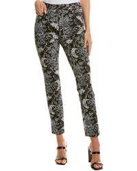 Diane von Furstenberg Luca Stretch-twill Cropped Skinny Trousers - Black