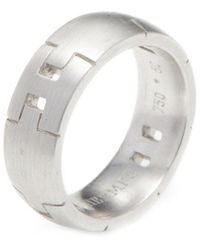 Hermès Hermes White Gold Alliance Herakles Ring - Metallic