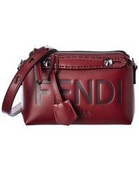 Fendi By The Way Mini Leather Shoulder Bag - Red