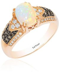 Le Vian - Chocolate & Vanilla Diamond, Neopolitan Opal And 14k Strawberry Gold Ring - Lyst