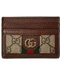 e2dc45ea89fd06 Lyst - Gucci Brown Ophidia Card Holder in Brown