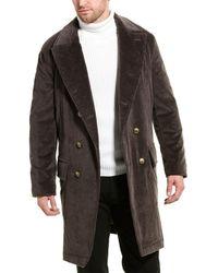 Brunello Cucinelli Corduroy Trench Coat - Grey