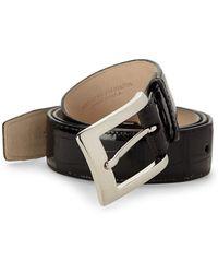 Abas - Genuine American Alligator Leather Belt - Lyst