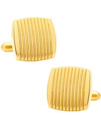 Ox and Bull Trading Co. - Stainless Steel Gold Ribbed Square Cufflinks - Lyst