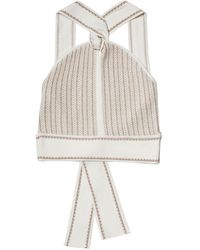 Club Monaco Raeni V Neck Multi Sweater - Natural