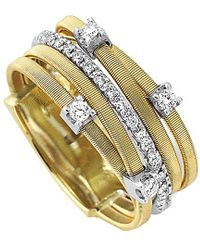 Marco Bicego - Goa 18k Two-tone Diamond Ring - Lyst