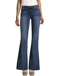 Hudson Jeans Ferris Mid Rise Flare Jeans - Blue