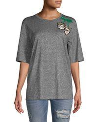 Dolce & Gabbana Family Sequined T-shirt - Metallic