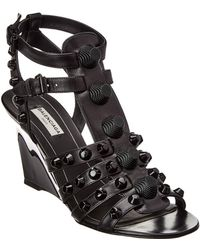 e1fd0640bdd Giant Gladiator Leather Wedge Sandal - Black