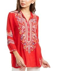 Johnny Was Jardin Tunic - Red