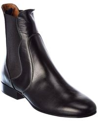 Chloé Chelsea Leather Bootie - Black