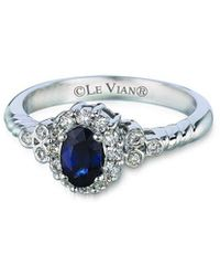 Le Vian Grand Sample Sale 14k Vanilla Gold 0.74 Ct. Tw. Diamond & Sapphire Ring - Blue