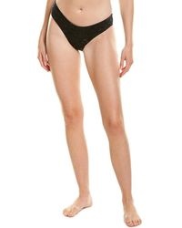 Shan Velour Classic Bikini Bottom - Black