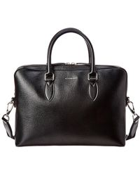 Burberry Slim Barrow Leather Briefcase