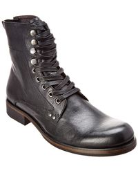 John Varvatos John Varvatos Leather Boot - Black