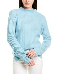 Vince Ribbed Raglan Wool & Cashmere-blend Pullover - Purple
