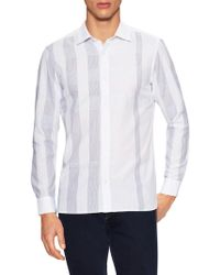 Burberry - Graphic Stripes Sportshirt - Lyst