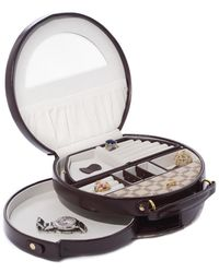 Bey-berk Two-tone Leather & Cloth Jewelry Box - Multicolor