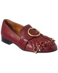 Chloé - Fringe Loafers - Lyst