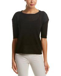 Lafayette 148 New York Relaxed Linen-blend Pullover - Black
