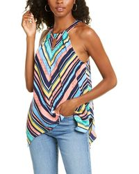 Laundry by Shelli Segal Laundry By Shelli Shark Bite Halter Top - Blue