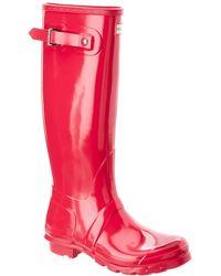 HUNTER Women's Original Tall Gloss Rain Boot