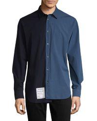 Maison Margiela - Colorblocking Cotton Shirt - Lyst