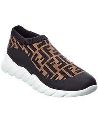 Fendi Tech Slip-on Sneaker - Black