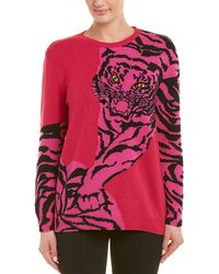 Valentino Tiger Cashmere Sweater - Pink