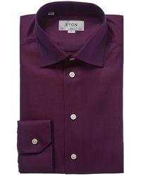 Eton of Sweden Contemporary Fit Dress Shirt - Purple