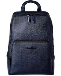 Ferragamo Compact Leather Backpack - Multicolor