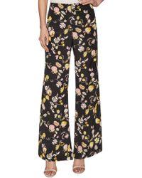 Jill Stuart Geraldine Crepe Print Wide Leg Pant - Black