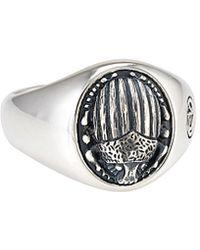 David Yurman - David Yurman Petrvs Scarab Silver Ring - Lyst