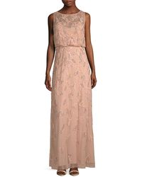 Adrianna Papell Blouson Gown - Pink